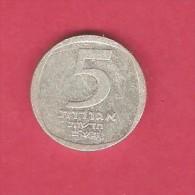 ISRAEL  5 NEW AGOROT 1980 (JE 5740) (KM # 107) - Israel