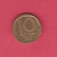 ISRAEL  10 NEW AGOROT 1980 (JE 5740) (KM # 108) - Israel