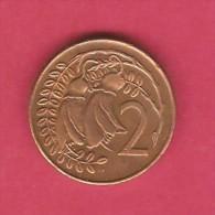 NEW ZEALAND  2 CENT 1971 Serifs On Date (KM # 32) - New Zealand