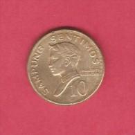 PHILIPPINES  10 SENTIMOS 1972 (KM # 198) - Philippines