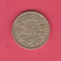 SWITZERLAND  10 RAPPEN 1947 (KM # 27) - Switzerland