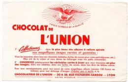 Buvard : Chocolat De L'Union, Rue Victorien Sardou à Lyon. - Chocolat
