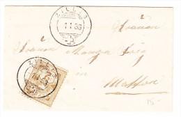 Schweiz Heimat Graubünden Zillis 1.1.1889 Briefli Mit 2Rp. Ziffer - 1882-1906 Armoiries, Helvetia Debout & UPU