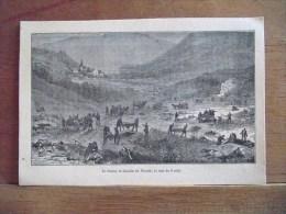 ILLUSTRATION : ALSACE 1870-1871 : Le Champ De Bataille De Woerth, Le Soir Du 6 Août - Documentos Antiguos