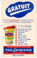 Buvard : Moutarde De Dijon, Paul Jacquemin, Anchois, Cornichons, Capres, Olives. - Moutardes