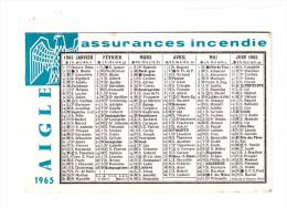 Calendrier AIGLE Assurances 1965 (PPP014) - Petit Format : 1961-70
