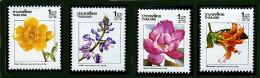 Thaïlande ** N° 1316 à 1319 - Nouvel An. Fleurs  (3 P3) - Thailand