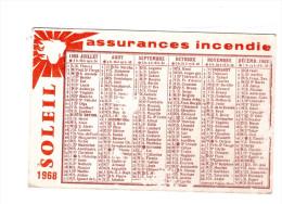 Calendrier AIGLE Assurances 1968 (PPP016) - Petit Format : 1961-70