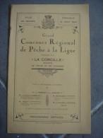 Brochure 1924 Grand Concours Régional De Pêche à La Ligne Organisé Par La Corcille Ville De Nevers - Non Classés