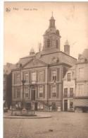 Timbre COB138Ba  Brrrrrrrrrrrrrrrrrrr        CPA - BELGIQUE - Huy - Hotel De Ville  - 1920 - Huy