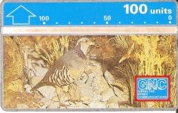 Nº 11 TARJETA DE GIBRALTAR DE UNA PERDIZ     (BIRD-PAJARO)  NUEVA-MINT - Gibraltar