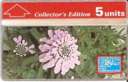 Nº 12/a TARJETA DE GIBRALTAR DE 5 UNITS DE UNA FLOR-FLOWER (230A)  NUEVA-MINT - Gibraltar