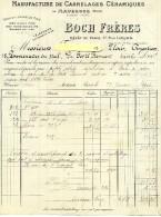 Facture - MAUBEUGE - Carrelages Céramiques - Boch Frères - 1900 – 1949
