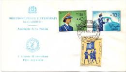 FDC - SOMALIA  - AUSILIARIE DELLA POLIZIA - ANNO 1963 - Somalia (1960-...)