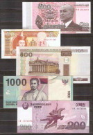 Lot  5  Pcs Different Paper Money Real Money Banknotes - UNC - Monnaies & Billets