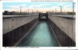 GATUN LOCKS LOOKING SOUTH, PANAMA CANAL - Panama