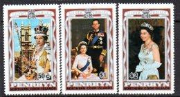 Penrhyn 1977 Royal Silver Jubilee Set Of 3, MNH - Penrhyn