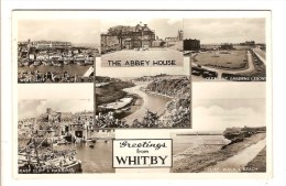 WHITBY - ROYAUME UNI - GREETINGS FROM - THE ABBEY HOUSE - WEST CLIFF AND HARBOUR - Whitby