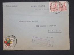 ESPAGNE- Enveloppe De Santander Pour Paris En 1938 Avec Censure Militaire - à Voir - Lot P7607 - Marcas De Censura Nacional