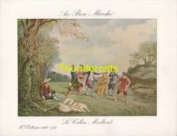 GRAND CHROMO IMAGE AU BON MARCHE ILLUSTRATEUR WATTEAU GRAVURE DEMOULIN - Au Bon Marché