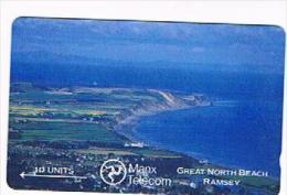 ISLE OF MAN - MANX TELECOM GPT - 1989 GRAT NORTH BEACH, RAMSEY (CODE 5IOMB - USED - RIF.8952 - Isola Di Man