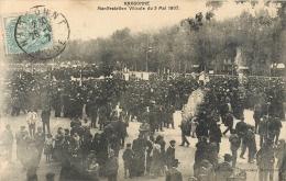 Cpa 11 Narbonne, Manifestation Viticole Du 5 Mai 1907, Carte Pas Courante Affranchie Juin 1907 - Narbonne