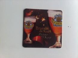 RARE ! Sous Bock BRASSIN DE NOEL Original On Dirait Les Bieres En Relief - Sous-bocks