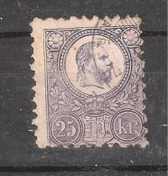 HONGRIE / Ungarn / Hungary 1871, Yvert N° 12 , 25  KR Violet, Obl Dentelé 9 1/2 , TB Cote 85 Euros - Hungría