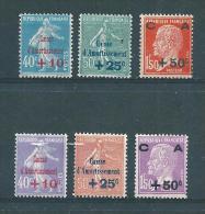France  Timbbres De 1927/28  N°246 A 251 Neuf ** Sauf  N°246* (cote 301€)gomme D'origine - France