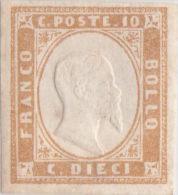 SI53D Italia Italy Italian States Sardinia Sardegna Sardinien 10 C. Nuovo MLH 1855 14Ea - Sardegna