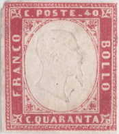SI53D Italia Italy Italian States Sardinia Sardegna Sardinien 40 C. Nuovo MLH 1855 - Sardegna