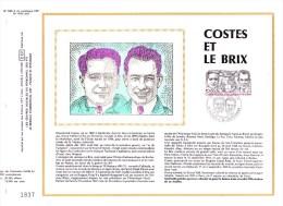 PA 55 (Yvert) Sur Feuillet 596 S Du Catalogue CEF (416 / Soie) - Costes Et Le Brix - France 1981 - FDC
