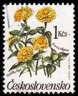 CZECHOSLOVAKIA - Scott #2780 Zinnia Elegans (*) / Used Stamp - Czechoslovakia