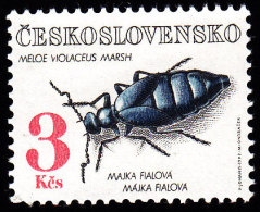 CZECHOSLOVAKIA - Scott #2865 Meloe Violaceus (*) / Mint NH Stamp - Unused Stamps