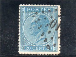 BELGIQUE 1865-6 O - 1865-1866 Perfil Izquierdo