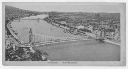 BUDAPEST  PONT ELISABETH FORMAT DEMI-CARTE - Hungary