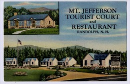 MT. JEFFERSON TOURIST COURT AND RESTAURANT RANDOLPH - United States