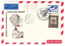 AT Luftpost 1er Ballonflugpost Dornbirn 30.7.1950 Hohenems - Luftpost