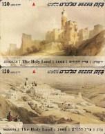 2-CARTES ISRAEL -MAGNETIQUE-120U-SITES-JERUSALEM-NASARETH-TBE - Israel