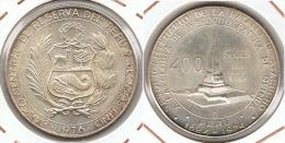PERU 400 SOLES ORO AYACUCHO  1976 PLATA SILVER G1 - Perú