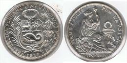 PERU SOL 1915 PLATA SILVER G1 - Perú