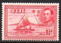 Fiji GVI 1938 1½d Definitive, Die II Man In Canoe, Perf. 13½, Lightly Hinged Mint - Fiji (...-1970)