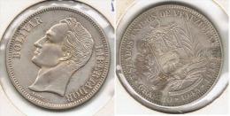 VENEZUELA 2 BOLIVAR 1945 PLATA SILVER G1 - Venezuela