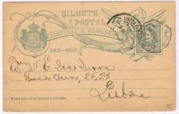Portugal, 1905, Bilhete Postal Para Lisboa - Enteros Postales