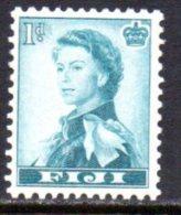 Fiji QEII 1954 1d Definitive, Wmk. Multiple Script CA, MNH - Fiji (...-1970)
