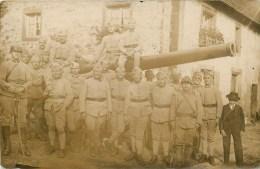Carte Photo - 133° Régiment D'Artillerie Lourde - Groupe D'artilleurs Posant Autour D'un Important Canon - Voir 2 Scans. - War 1914-18