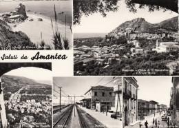 AMANTEA  /  Stazione Ferroviaria In Vedutina _ Viaggiata - Cosenza