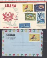 GHANA - 1959 -  1 ENVELOPPE 1er JOUR & 1 AEROGRAMME - - Ghana (1957-...)