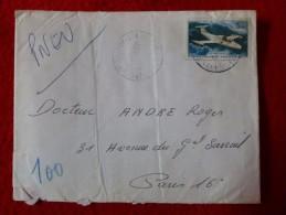 PNEUMATIQUE POSTE AERIENNE SEUL SUR LETTRE - 1961-....