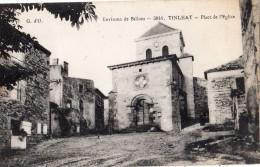 ENVIRONS DE BILLOM TINLHAT PLACE DE L'EGLISE ANIMEE RARE - Non Classés